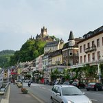 View from river Mosel of Cochem city 5 minutes from pension