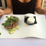 Souzoukakia with yogurt icecream