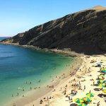 La playa la mina  de la reserva nacional de paracas