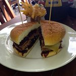 The Ox Burger with Truffle Fries