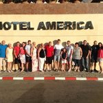 All 15 of us at hotel america