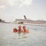 Relaxing at the public beach Ochos Rios