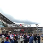 Panorama of walking in through outfield entrance.