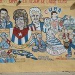 Murales en la calle 8, rememorando a figuras destacadas cuabanas