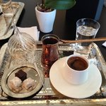 Complimentary Turkish coffee and sweets on arrival