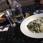 leek pea & spinach risotto