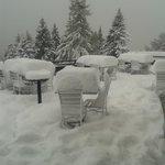 terrazza, ma quanta neve