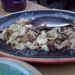 Orecchiette alla Ligure (con melanzane e zucchine fritte)