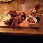 Smoked barbecue platter.