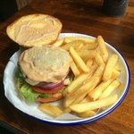 Teardown: Lid off, excellent melted cheese, nice burger sauce