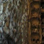 Detalle del revestimiento interior de la capilla.