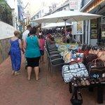 Quaint shops leading to beech