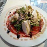 Salade tomate mozza di bufala