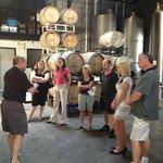 fermenting room at Averill Creek Vineyards