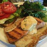 Atlantic salmon sandwich
