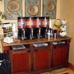 Coffee & Tea Area - Hampton Inn Moncton