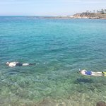 Snorkelling in the Mediterranean over the ruins of Caesarea