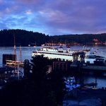 Sunset view of Friday Harbor from the patio bluff overlook at Friday Harbor House 7/22/2014