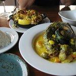 Dorade (Fish) with Amarula Sauce, Paella