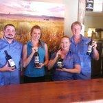 Truckee River Winery staff enjoying their favorite wine.
