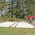 Bocce courts at the tasting room