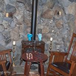 Truckee River Winery's cozy fireplace.