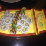 One of the sushi entrees, everything was delicious