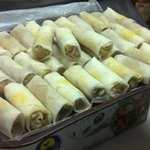 our homemade vegetable spring rolls....