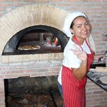 wood fired pizza prepared infront of you yumo !!!