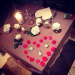 I tavoli romantici...