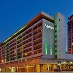 Radisson Exterior in night lights