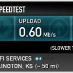 Typical Internet speed when paying for premiem service.