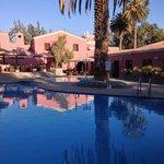 Swimming pool area at hotel Libertador.