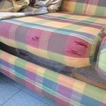 Les trous dans le canapé