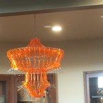 coat hanger chandelier in the Tinkering Studio