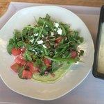Amazing watermelon, pepita, goat cheese salad - Seaglass Restaurant