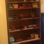 Snack options to purchase in lobby. A little sparse looking...