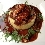 Foie gras with duck confit on mashed potatoes