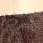 Fraying carpet