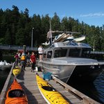 Loading the Water Taxi on Quadra Island
