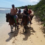 Riding on the beach in paradise!