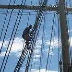 mast climbing demonstration