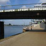 Weserpromenade Richtung Hotel