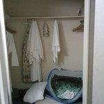 Large closet in bathroom area