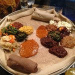 Traditional Ethiopian dinner