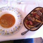 Sopa y cocido lebaniego