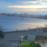 vue de la mer du balcon