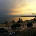 vue sur la mer  depuis l'agrèable balcon