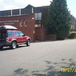 hilly car park   If you are a wheelchair user avoid this venue.