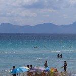 The beach in Alcudia